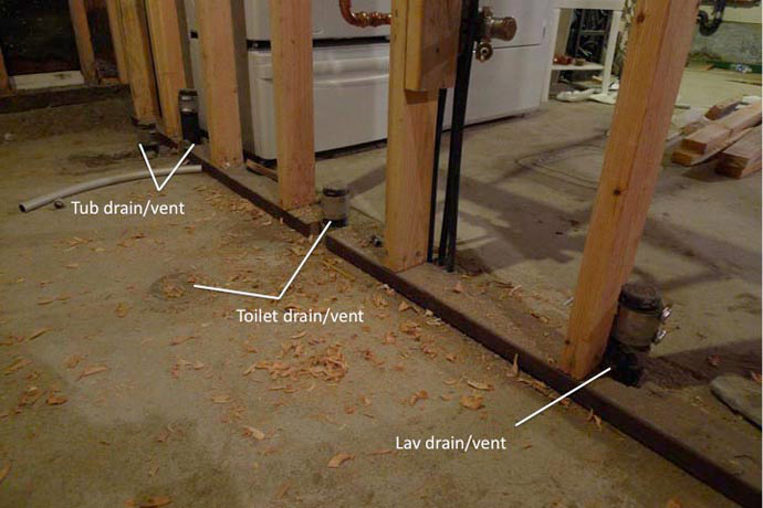 Basement bathroom rough plumbing best plumbing roughins for Rough in plumbing for toilet