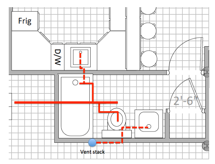 Screen Shot 2015 03 31 at 11 03 55 AM png. Best way to connect bar sink drain vent to bathroom rough in