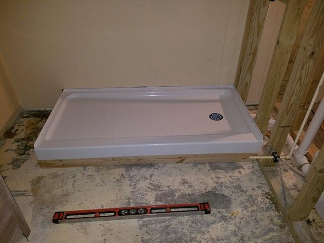 Raised Shower Base On Concrete Floor