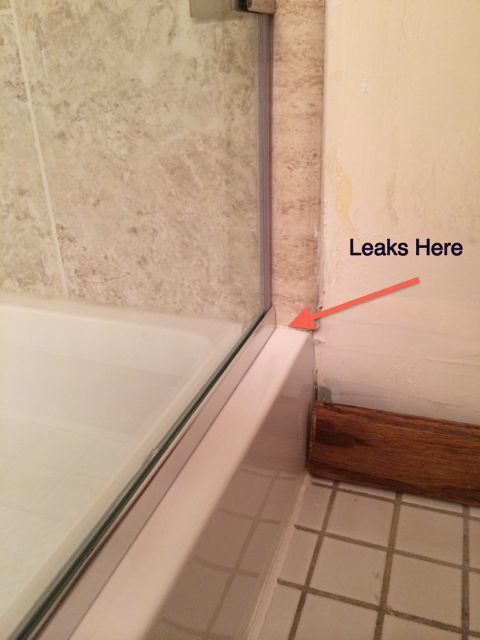 Leak in shower stall bottom