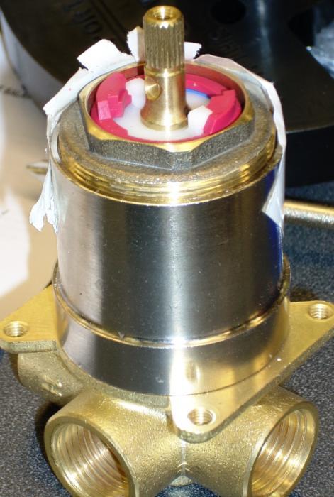 Shower Valve Cart  jpg. AquaSource Shower   How Does  Flow Control  Cartridge Gear Inside