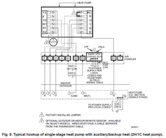 White Rodger Heat Pump Thermostat Wiring Diagram