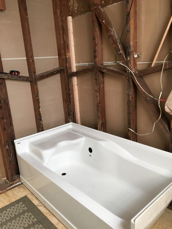 new tub install with vent or wet vent   Terry Love Plumbing ...