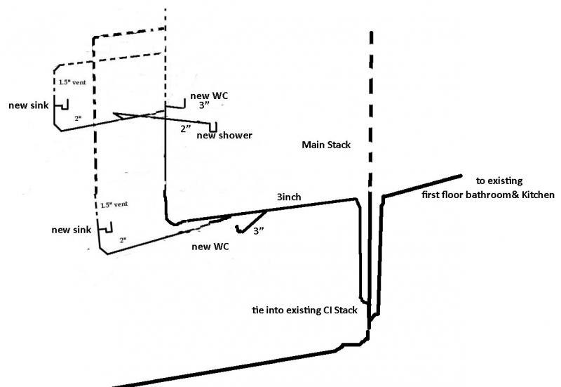 Second Floor Bathroom Plumbing Diagram Universalcouncil Info
