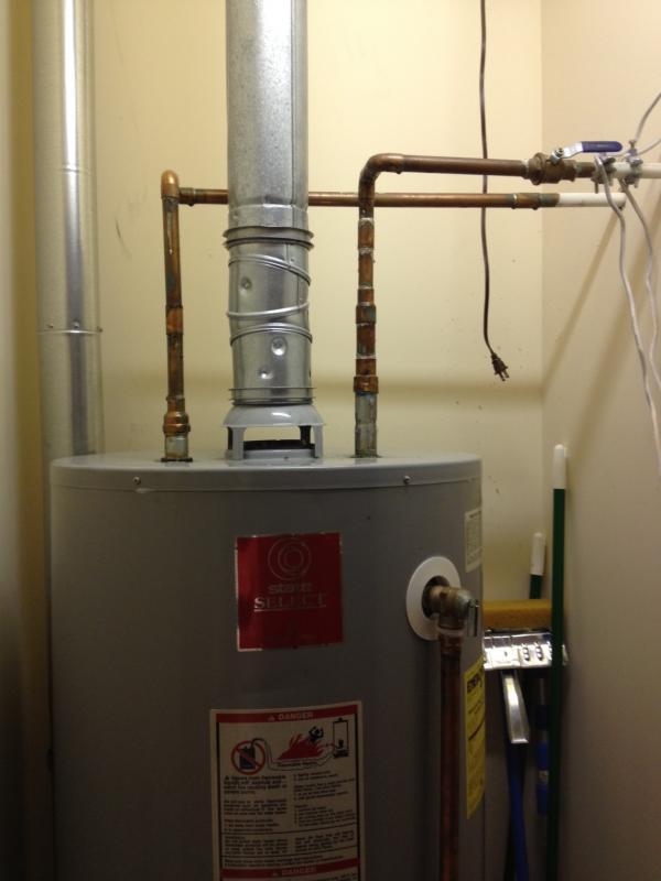 water heater shut off valve location