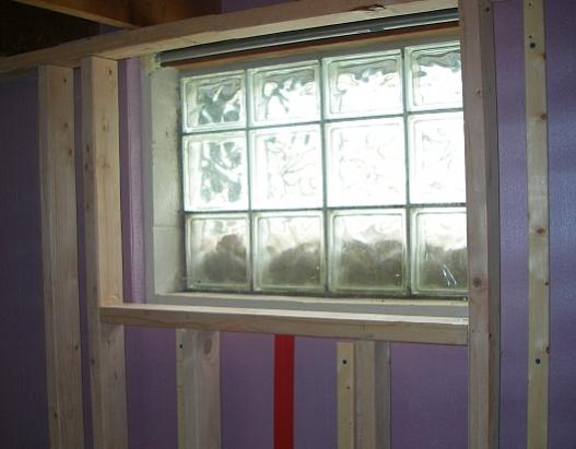 windowBox..jpg & Framing inside basement glass block windows | Terry Love Plumbing ...