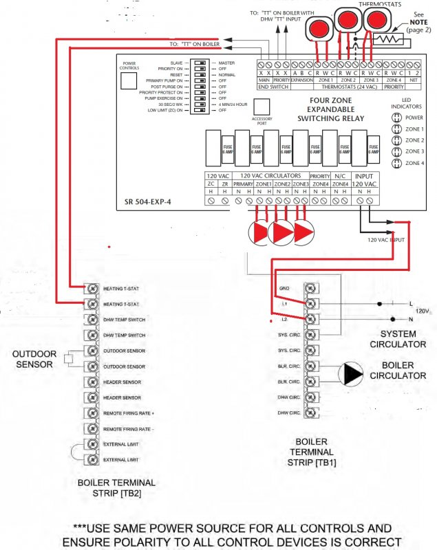 Wiring Diagram For 3 Zone Heating System
