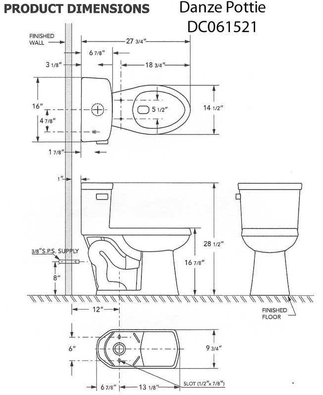Trying to update an old bath with a new toilet but have ...