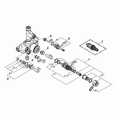 Grohe grohtherm 1000 34143 000 34143 000 together with Index moreover Kohler Shower Valves also Index as well Grohe mixer valve 34963 000 34963 000. on grohe grohmix shower parts replacement