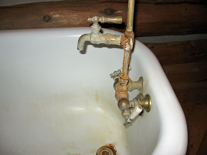 How to replace a clawfoot tub faucet and waste and overflow ...