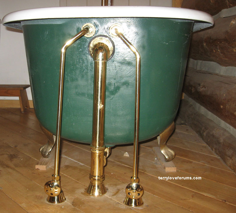 Free Standing Basin Style Bathtub With No Access To