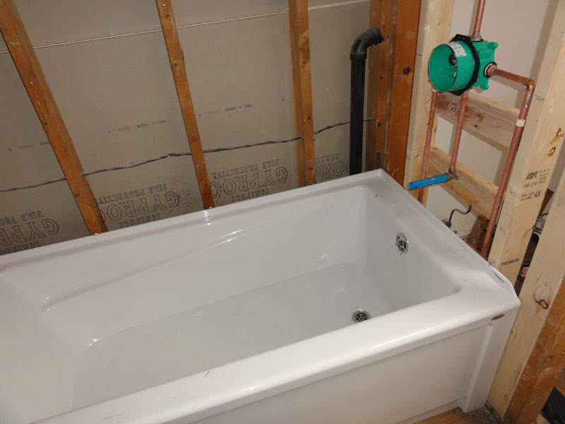 Mortar Bed Under Fiberglass Whirlpool Tub How Thick Terry Love Plumbing