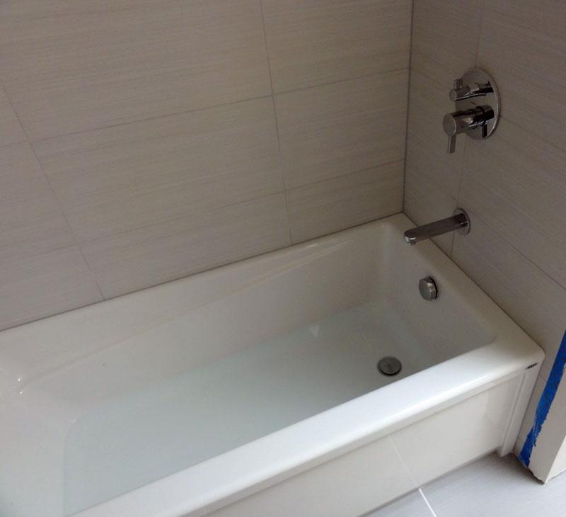 Acrylic Tub Installation With Hansgrohe Tub Shower Valve