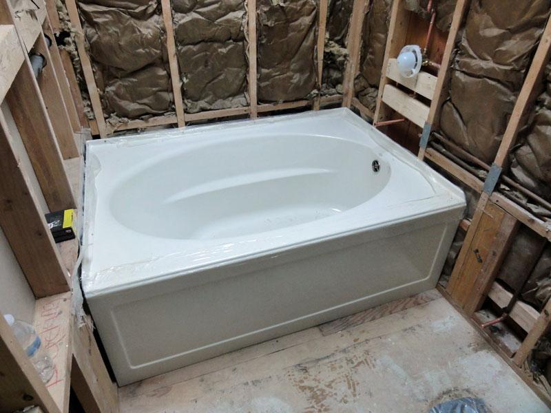 Installing A Kohler Acrylic Windward Tub K 1113 60 X 42 Terr