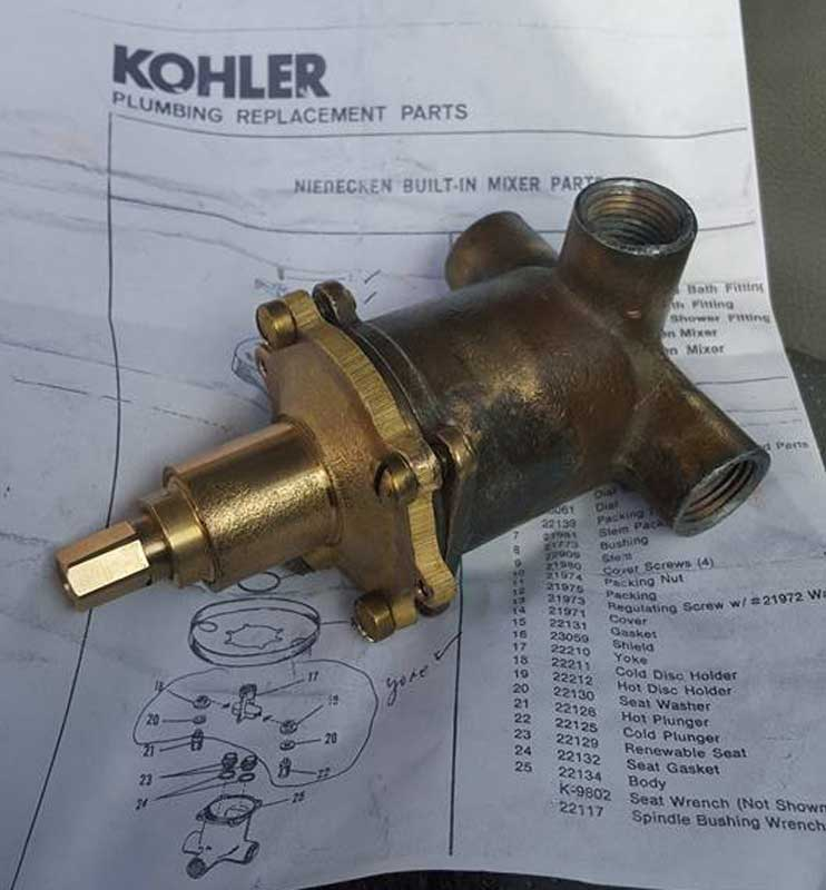Kohler Niedecken, Need information on very old shower mixing valve ...