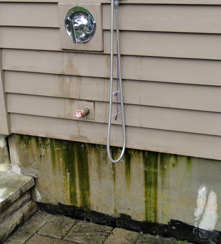 Appealing Outside Faucet Leaking Behind Siding Gallery - Exterior ...