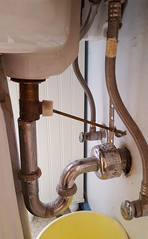 Pedestal Sink Leak On Drain How To Fix It