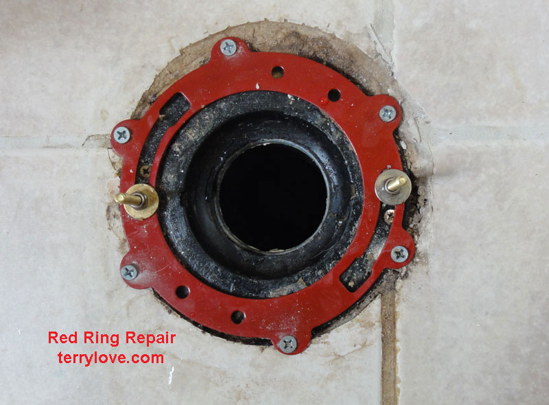 What does a toilet flange repair ring do?