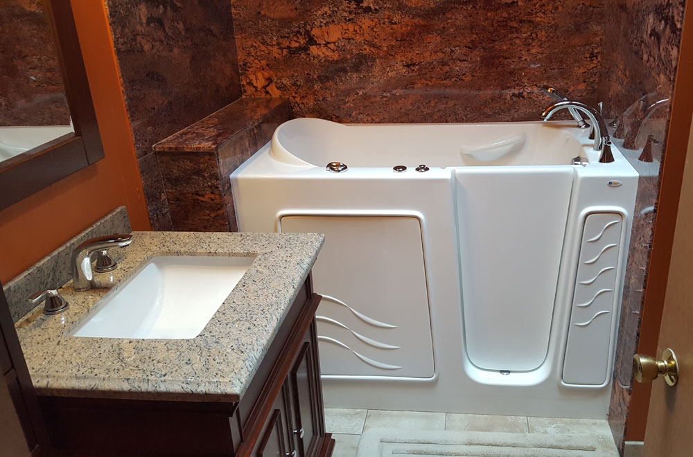 Here we look at installing a walk in tub for a customer of mine  What they  had was a standard five foot tub which was going to come out. Installing a walk in tub from Costco   Terry Love Plumbing