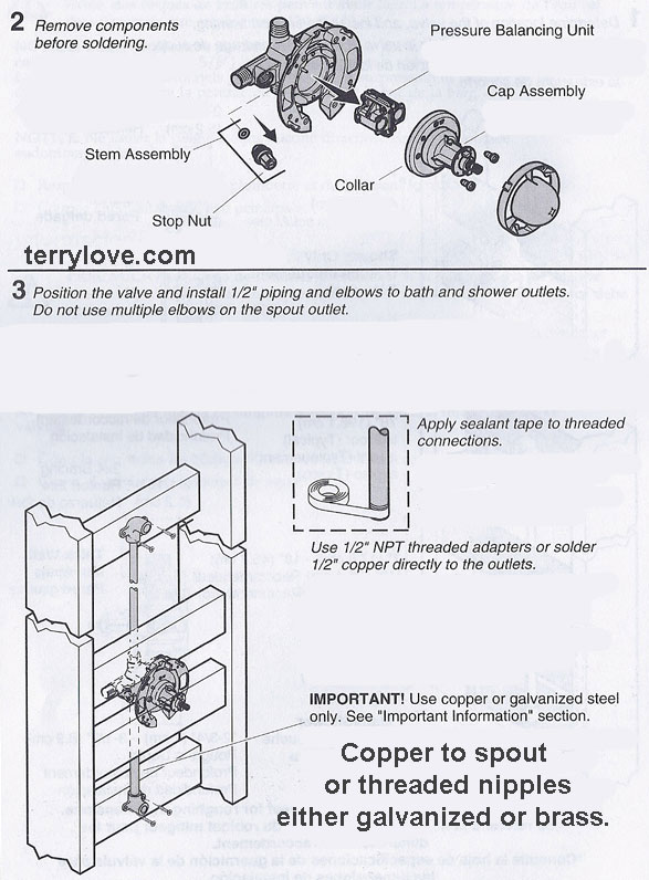 PEX or copper between valve and tub spout | Terry Love Plumbing ...