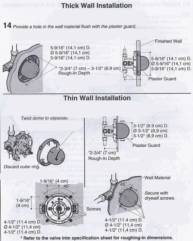 Installing A Kohler Rite Temp Bath Amp Shower Valve K 304