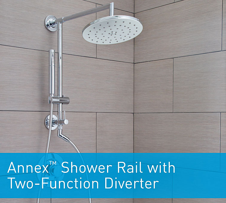 How to Install the Moen Annex Shower Rail | Terry Love Plumbing ...