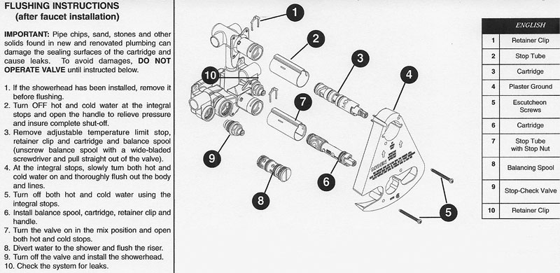 Moen 3330    3320 Valve Instructions