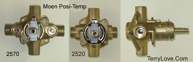 moen posi temp shower valve parts