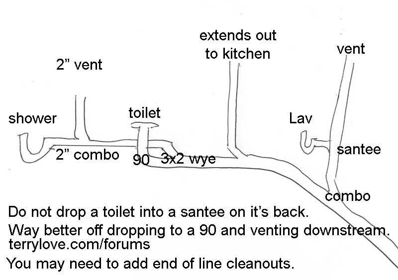 3 4 Bath Wet Vent Question Terry Love Plumbing Amp Remodel