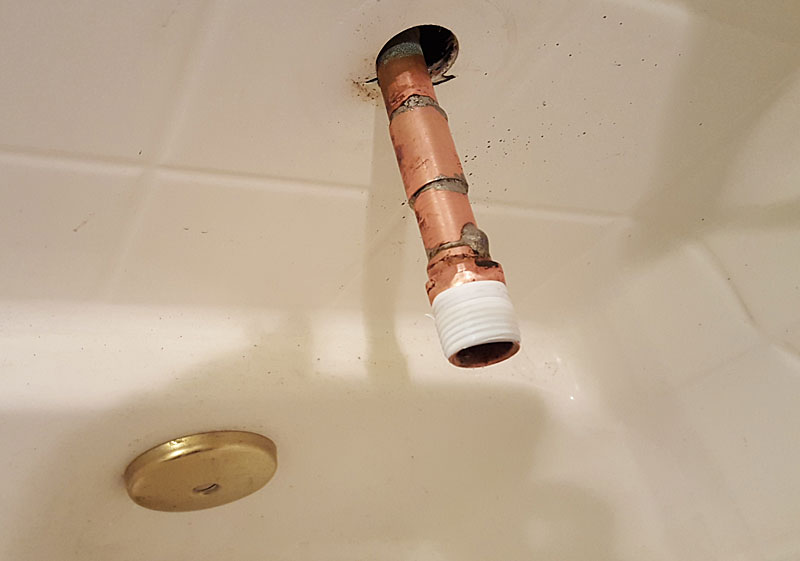 New Tub Spout Leaking Near Wall | Terry Love Plumbing & Remodel ...