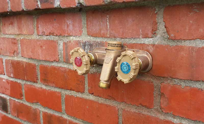 how to run an outdoor faucet