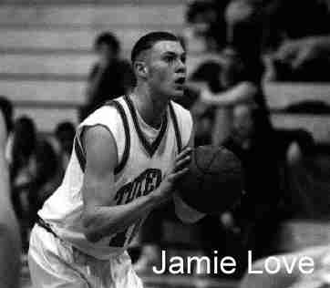 Jamie Love shooting a free throw