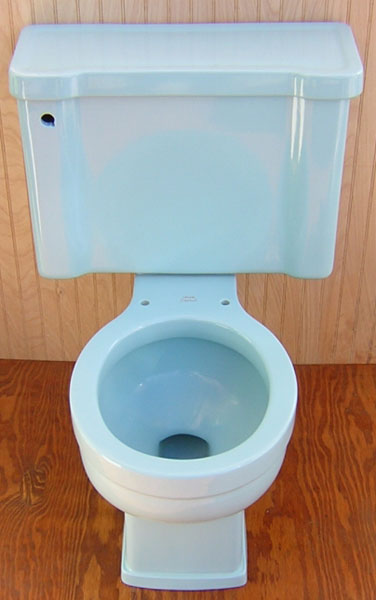 crane plumbing toilet flapper. Crane Drexel in Blue Toilet  pictures and reviews A real water waster