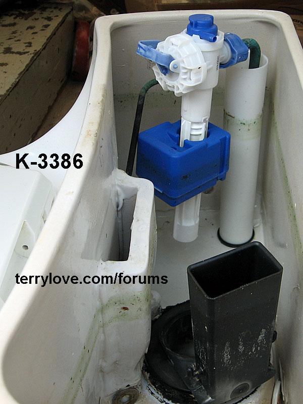 Kohler Pompton Toilet Leaking Water Into The Bowl