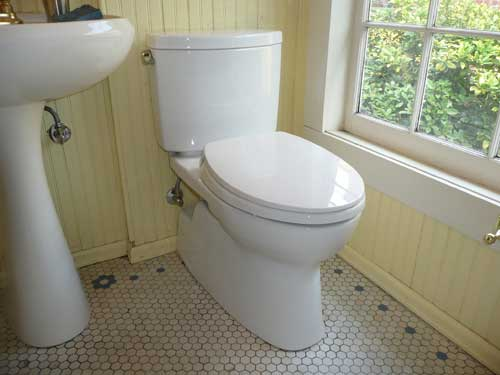 Water level in bowl too low with 1.28 gal toilet?